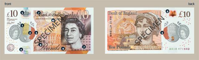 イングランド銀行サイトより 10ポンド紙幣